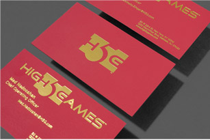 METALLIC FINISH BUSINESS CARDS printing